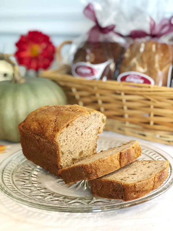 Apple Cinnamon Tea Bread ~ one of the many selections offered