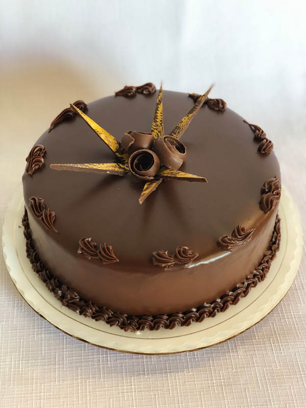 Chocolate Ganache ~ Chocolate sponge cake layers filled with dark chocolate ganache