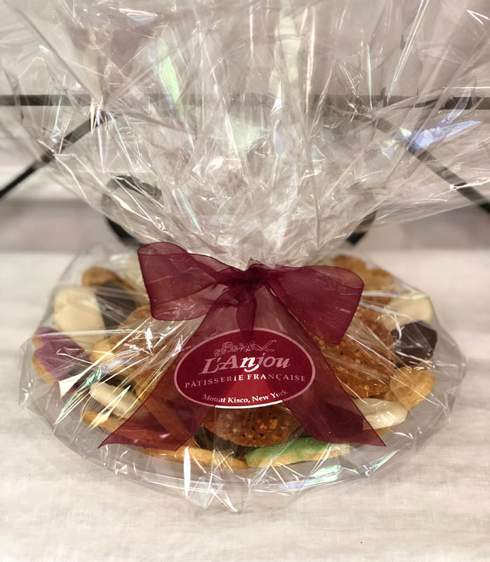 Cookie Platters ~ assorted French butter cookies, wrapped with sheer ribbon in our signature colors