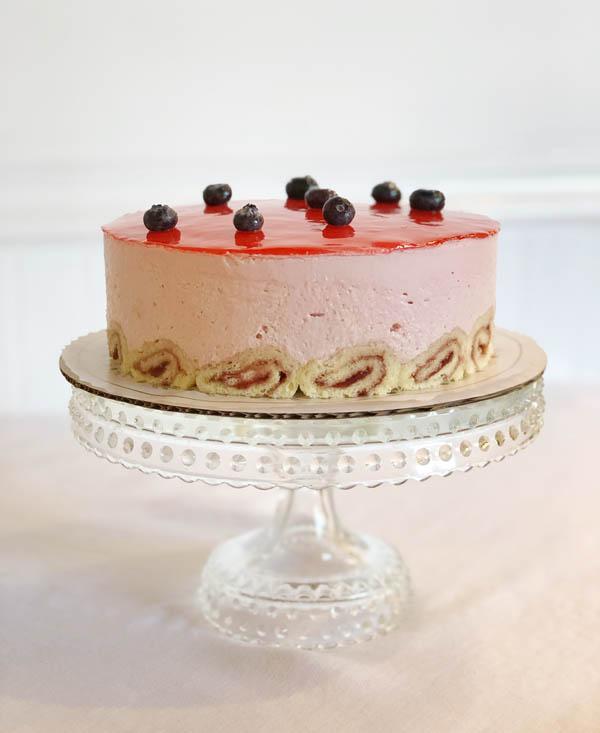 Trois Berry Mousse Cake