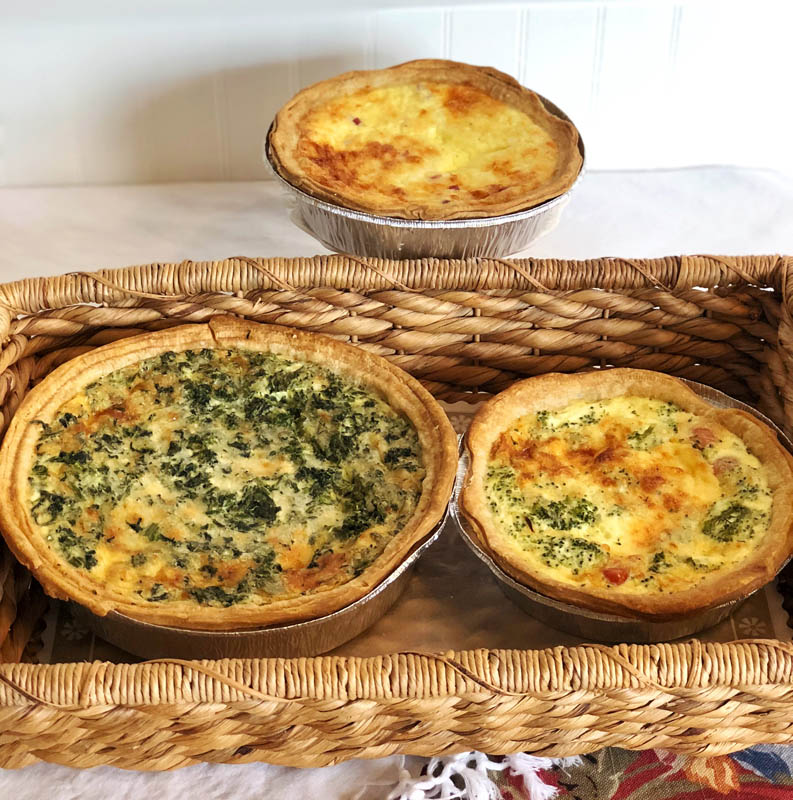 Assorted Quiches ~ Fresh baked selections, daily