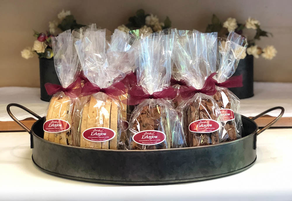 Assorted packaged biscotti
