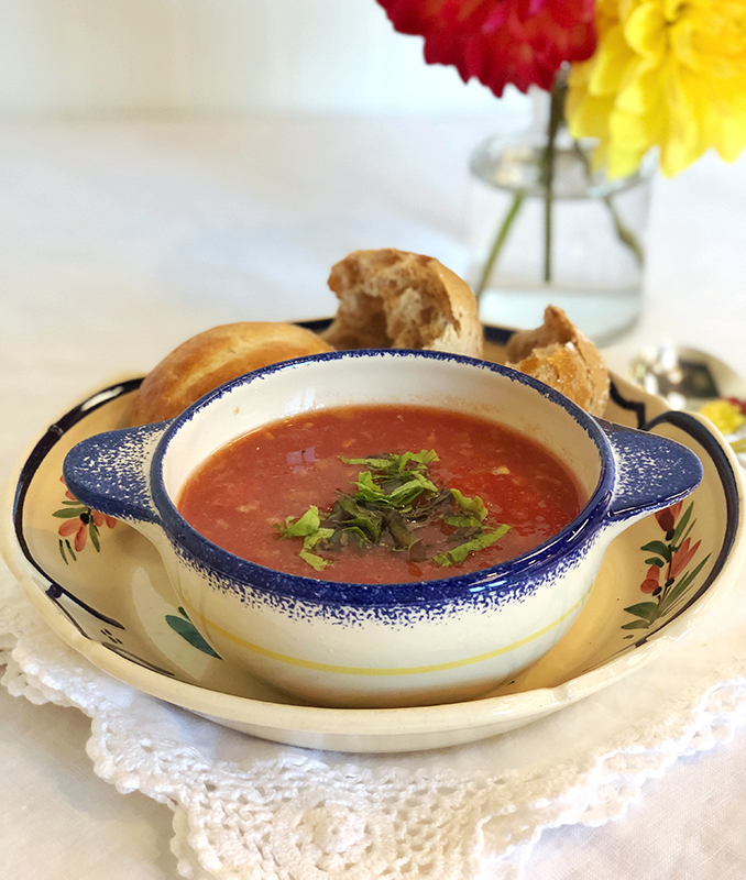 use Gazpacho ~ Our seasonal soup selections are made daily with the freshest ingredients